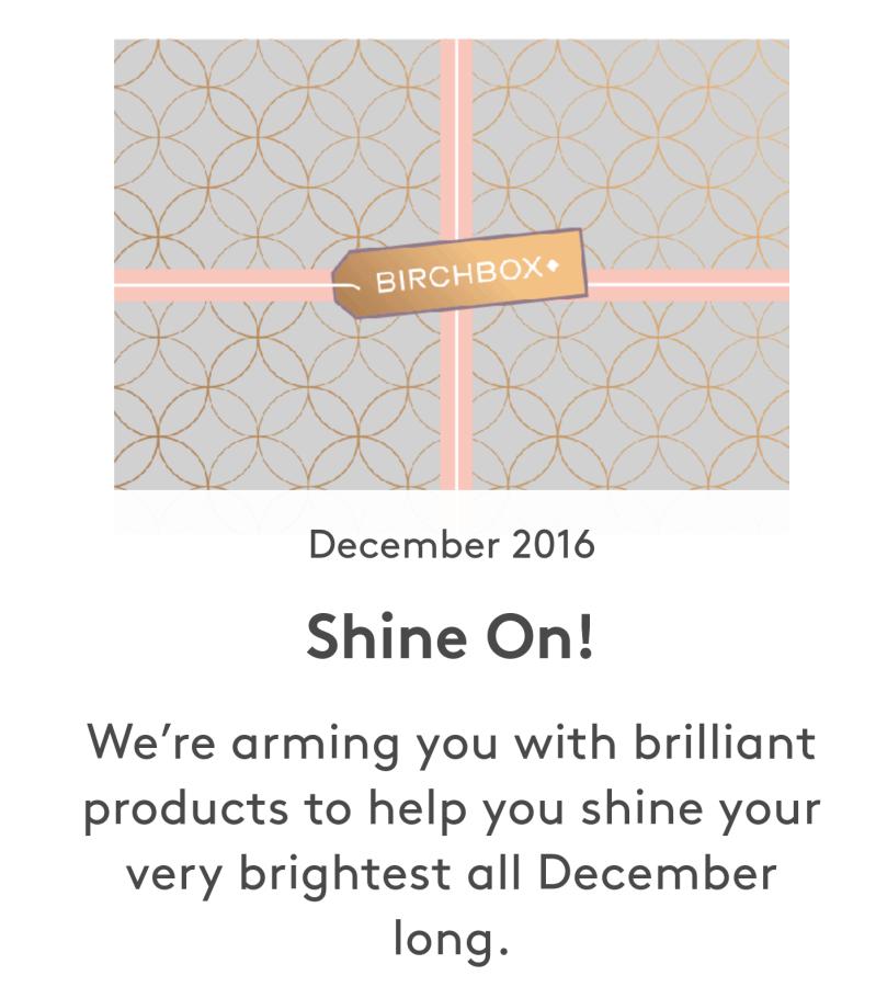 Birchbox December 2016
