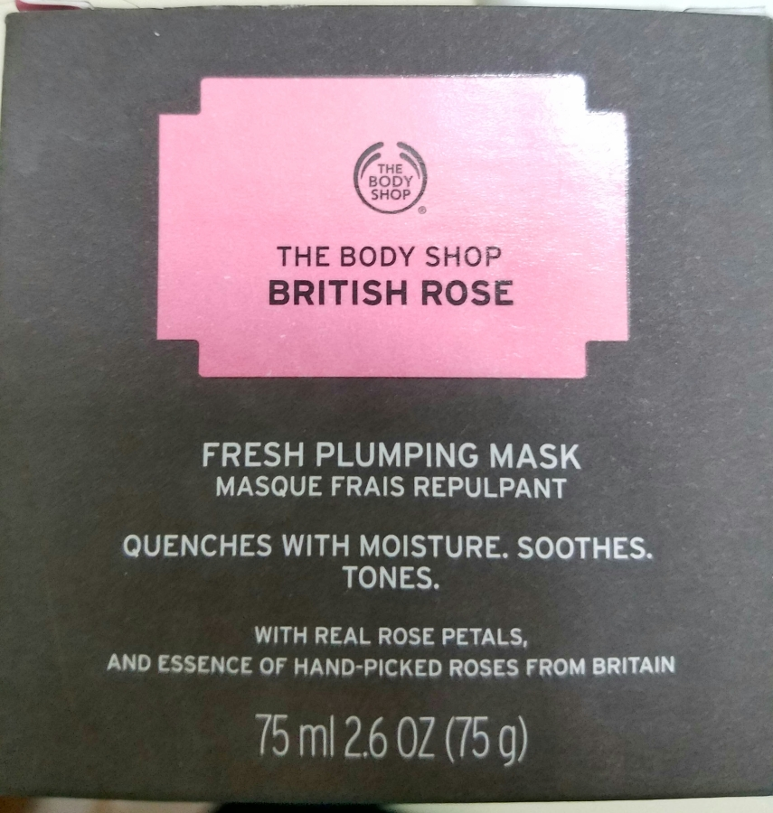 Body Shop British Rose Fresh Plumping Mask