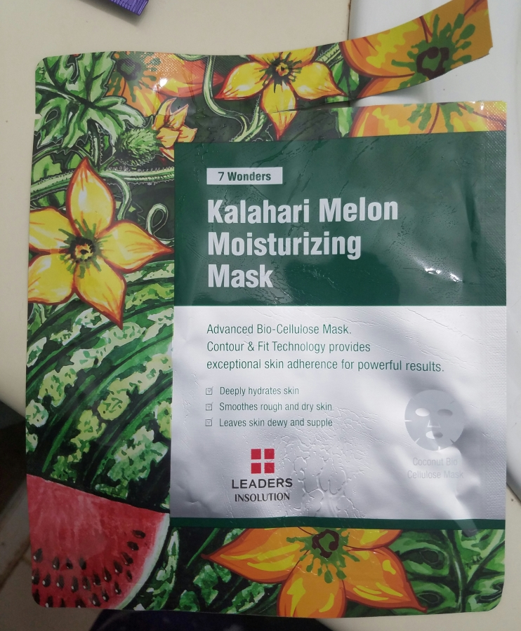 Leaders 7 Wonders Kalahari Melon Moisturizing Mask Review