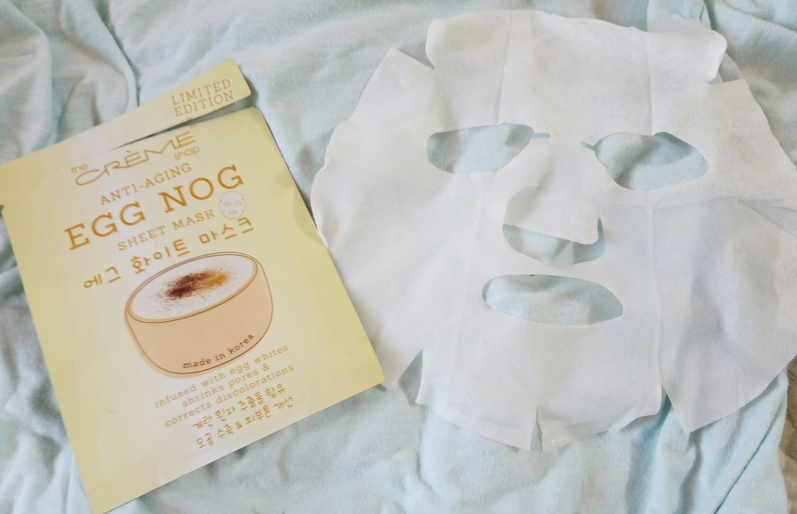 The Creme Shop Anti-Aging Egg Nog Sheet Mask Review