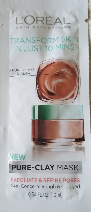 L'Oreal Pure Clay Exfoliate and Refine Treatment Mask