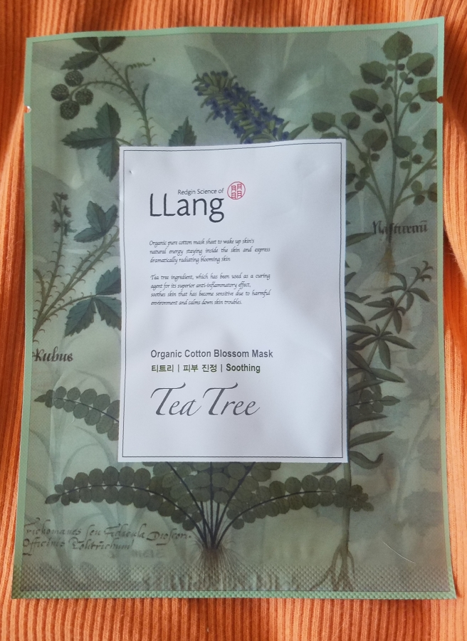 LLang Organic Cotton Blossom Mask – TeaTree