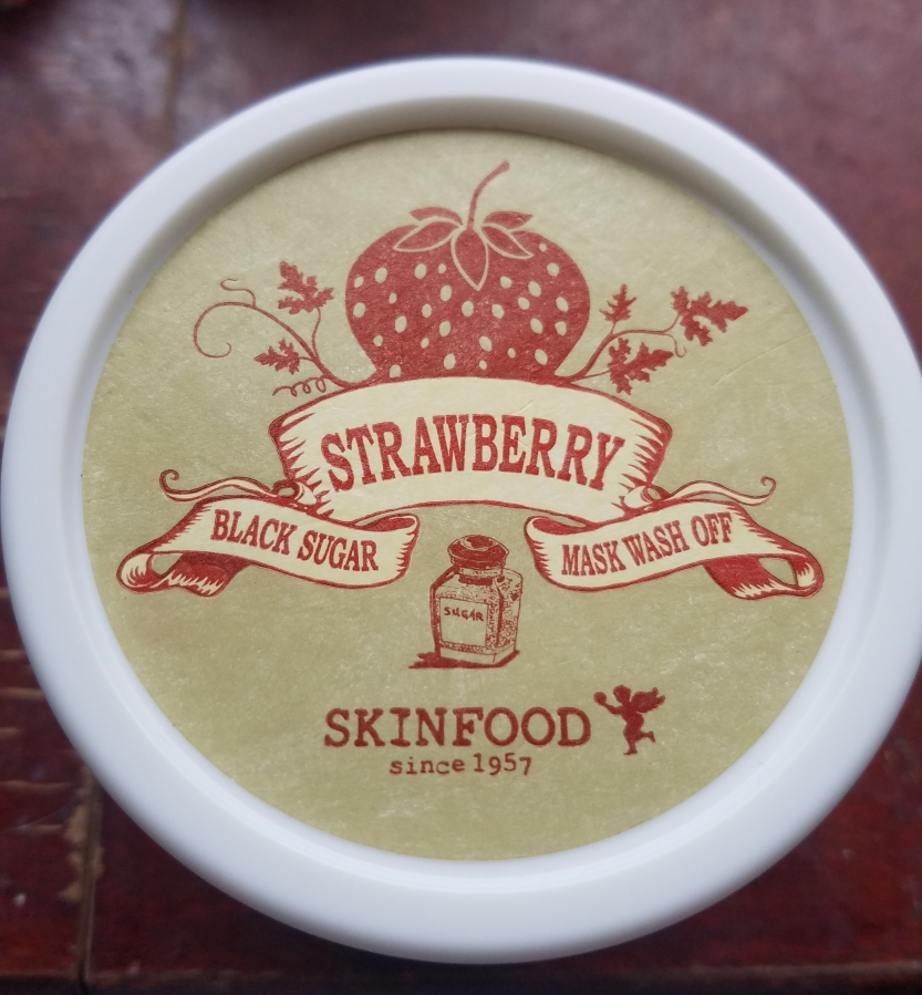 Skinfood Strawberry Black Sugar Wash Off Mask