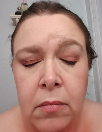Face with full makeup