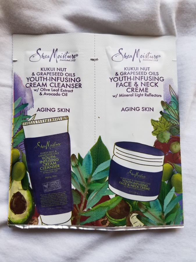 #SeptemberSample Shea Moisture Youth Infusing Cream Cleanser and Face & Neck Creme