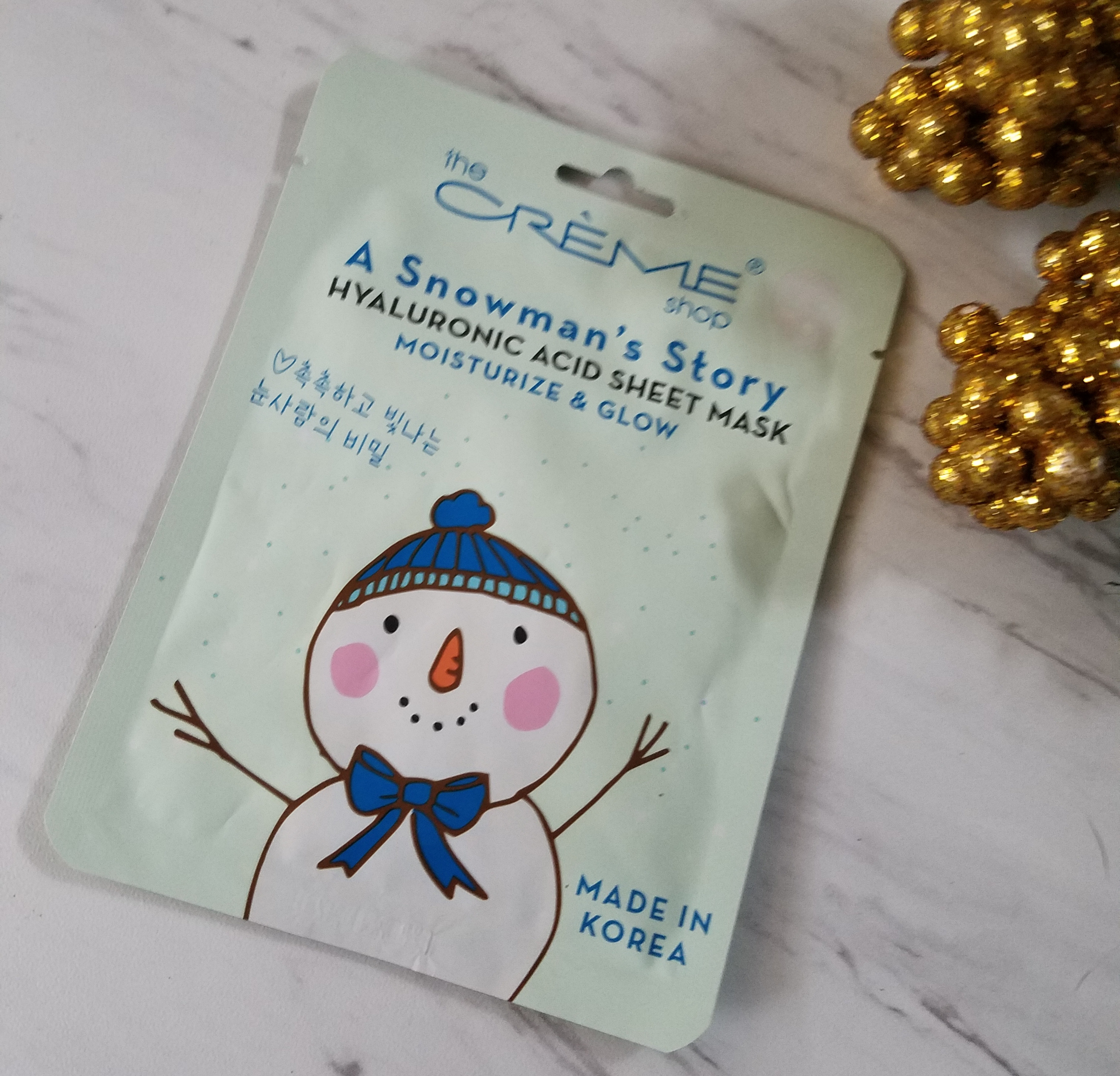 The Creme Shop A Snowman's Story Hyaluronic Acid Sheet Mask