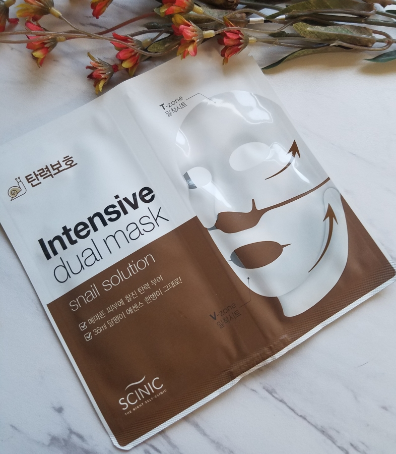Scinic Intensive Dual Mask – Snail Solution
